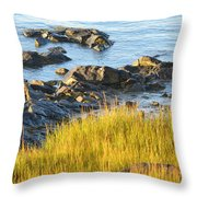 Salem Coastline Throw Pillow