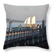 Salem Willows Sailboat Throw Pillow
