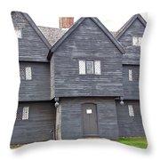 Salem Witch House Throw Pillow