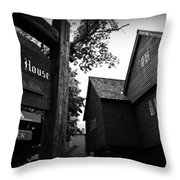 Salem's Witch House Throw Pillow