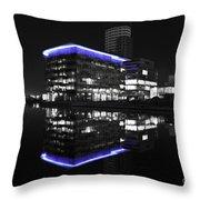 Salford Quay Reflection Throw Pillow