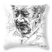 Sali Shijaku Artist Throw Pillow