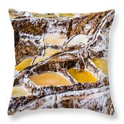 Salinas De Maras Throw Pillow