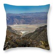 Saline Valley Panorama Throw Pillow