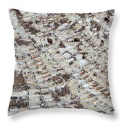Salineras Throw Pillow