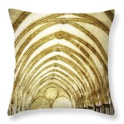 Salisbury Cathedral Cloisters 2 Throw Pillow