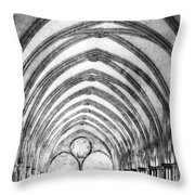 Salisbury Cathedral Cloisters Throw Pillow