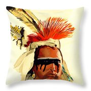 Salish Brave  Throw Pillow