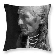 Salish Indian  Circa 1910 Throw Pillow by Aged Pixel