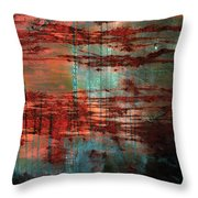Salivated Flame  Throw Pillow