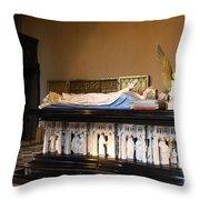 Salle De Gardes - Palace Dijon Throw Pillow