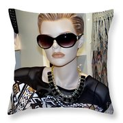 Sally In Shades Throw Pillow