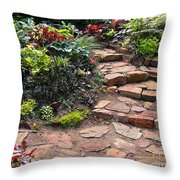 Sally's Garden Throw Pillow by Nancy Harrison