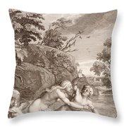 Salmacis And Hemaphroditus United In One Body Throw Pillow