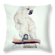 Salmon Crested Cockatoo Throw Pillow