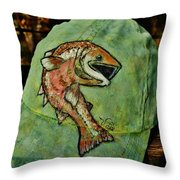 Salmon Fishing By V Lee Throw Pillow