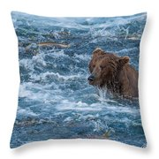 Salmon Salmon Everywhere Throw Pillow