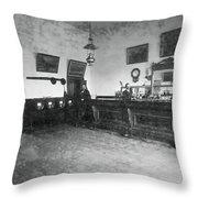 Saloon C. 1890 Throw Pillow