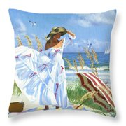 Salt Aire Blues Throw Pillow