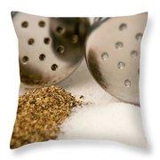 Salt And Pepper Shaker Spilled Throw Pillow