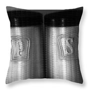 Salt And Pepper Shakers Throw Pillow