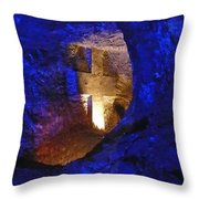 Salt Cathedral- Colombia Throw Pillow