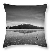 Salt Cloud Reflection Black And White Select Focus Throw Pillow