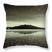 Salt Cloud Reflection Black And White Vintage Throw Pillow