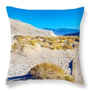 Salt Creek Boardwalk Trail In Death Valley National Park-california  Throw Pillow