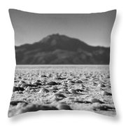Salt Flat Surface Black And White Throw Pillow