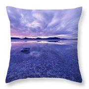 Salt Flats After Dark Throw Pillow