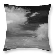 Salt Flats Clouds Throw Pillow