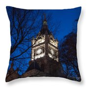 Salt Lake City And County Building At Night Throw Pillow