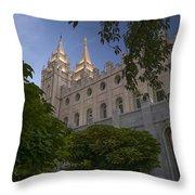 Salt Lake City Temple Throw Pillow