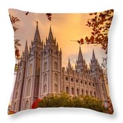 Salt Lake City Temple Throw Pillow
