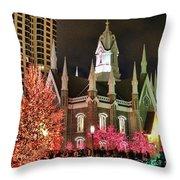 Salt Lake Temple - 3 Throw Pillow