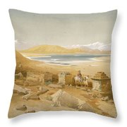 Salt Lake - Thibet, From India Ancient Throw Pillow
