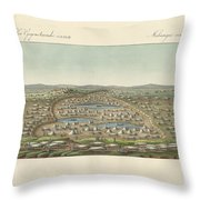 Salt Lakes And Salt Grounds Throw Pillow