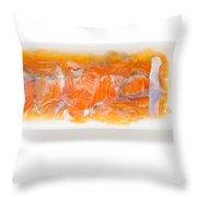 Salt Pink Salmon Throw Pillow