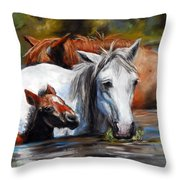 Salt River Foal Throw Pillow