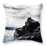 Salt Spray In The Air Throw Pillow