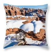 Salt Valley Overlook Throw Pillow