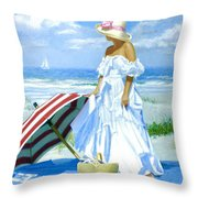 Salt Water Blues Throw Pillow