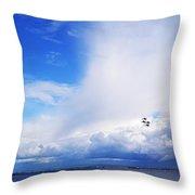 Salthill Air Show Throw Pillow
