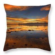 Salton Sea Color Throw Pillow