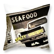 Salty Oysters - Textured Throw Pillow
