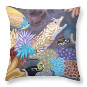 Salty Sea Throw Pillow by Anthony Morris