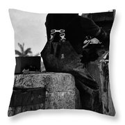 Salty Shrimper Throw Pillow