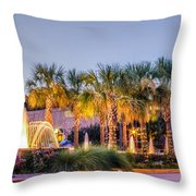 Saluda Avenue At Blossom Street Throw Pillow