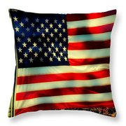 Salute For The Valiant Throw Pillow
